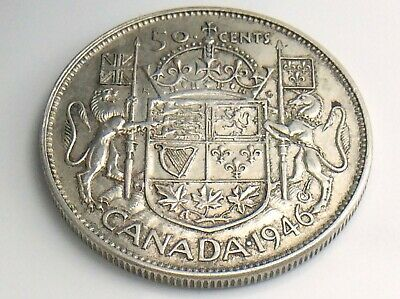 1946 Canada 50 Fifty Cent Half Dollar Canadian Circulated George VI Coin I936