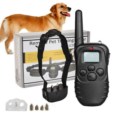 Electric Collar Training Dog Pet for Large 300 Yard Shock With Remote Waterproof