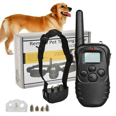 Electric Collar Training Dog Pet for Large 328 Yard Shock With Remote Waterproof