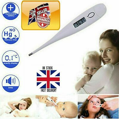 Digital LCD Thermometer Medical Suitable-for-All Safe Ear Mouth Temperature