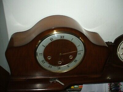 Smiths Vintage Late Art Deco 8 Day Westminster Chime Mantle Clock V G C 1958