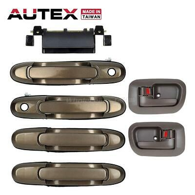 7Pcs Set For 98-03 Toyota Sienna Left Right Brown Inside Outside Door Handle Kit