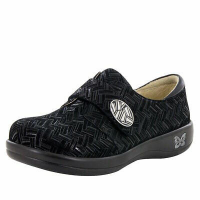 f919c34dac1 ALEGRIA ALL-431 LOAFERS Shoes Alli Black Paisley Embossed 42 US 11.5 ...