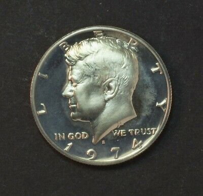 1974-S Kennedy JFK Half Dollar 50 Cent Proof Cameo - Some Toning
