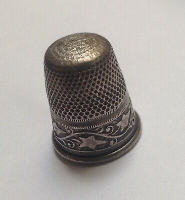 Antique Ivy Vine Band Sterling Silver Thimble~Germany~Size 6