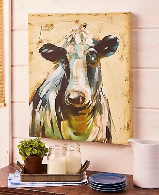 Cow Farm Animal Canvas Wall Art Picture Country Rustic Farmhouse Home Decor
