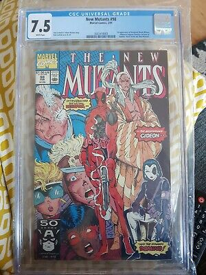 NEW MUTANTS  #98. First appearance DEADPOOL 7.5 CGC rob liefeld