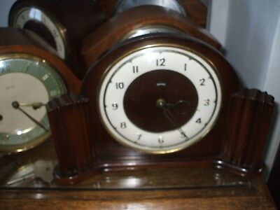 Vintage Smiths  British  Art Deco Mantle Clock V G Condition