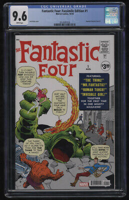 Fantastic Four: Facsimile Edition #1 CGC 9.6 W Pgs 2018 Jack Kirby Stan Lee 1961