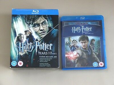 HARRY POTTER 1- 8 Complete 8 Film Movie Collection BLU RAY (1 2 3 4 5 6 7 8)