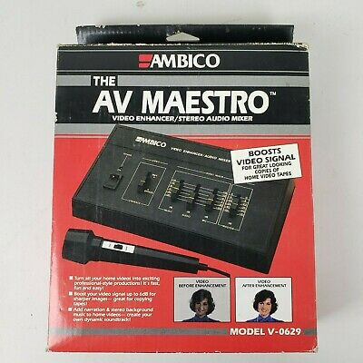 Ambico Av Maestro V0629 Video Enhancer Stereo Audio Mixer Reasonable Price Cameras & Photo Audio For Video