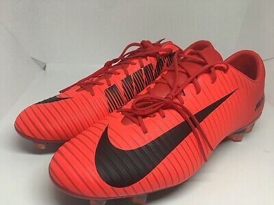 cheaper 020ed 344f2 Nike Mercurial Veloce Iii Fg Soccer Cleats Size 10 Red Black 847756-616