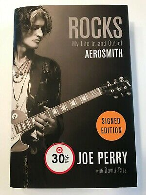"""JOE PERRY signed """"Rocks: My Life In & Out of AEROSMITH"""" hard cover book"""