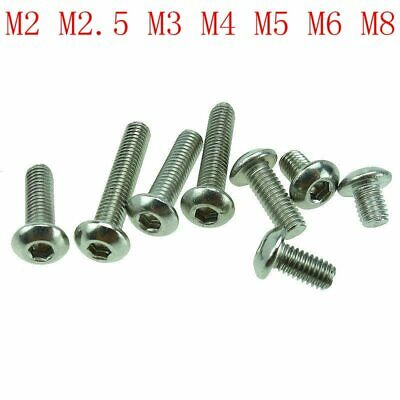 Stainless steel round head hex socket screws  Round head bolts mushroom head