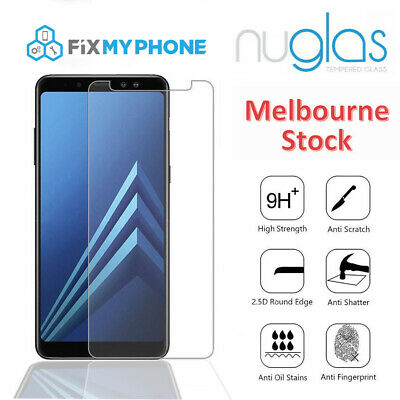 Nuglas Tempered Glass Screen Protector For Samsung Galaxy A6 A7 A8 A9 Plus 2018