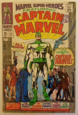 Marvel Super Heroes Vol.1 #12 featuring Captain Marvel (1967) 1st app Yon Rogg