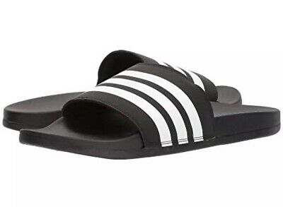 e97689f65 Mens Adidas Adilette Comfort Slide Sandals Sport Black White Striped New  Size 10