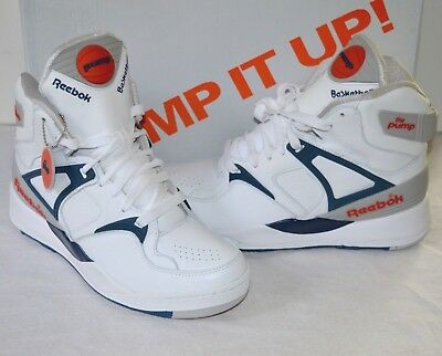 563c6d31d57f New Reebok Retro The Pump 1989 White Royal Sheer Orange sz 7.5 Rare