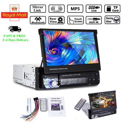 7'' Single Din Car  Radio Stereo Bluetooth Touch Screen MP5 Player Mirroring AUX