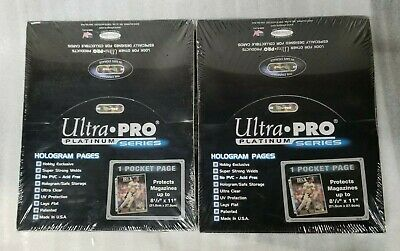 Ultra Pro Platinum Series 1 Pocket Pages No PVC Acid Free 2 Box LOT SET 200 page