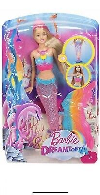Barbie Dreamtopia Rainbow Lights Mermaid Doll, Blonde New Sealed Free Shipping
