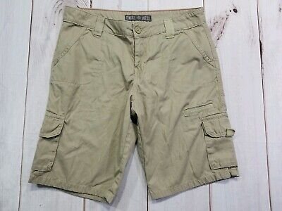 846d1e275c DICKIES WOMENS CARGO Shorts Khaki Relaxed Fit Flat Front Size 10 (33 ...