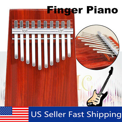 10 Key African Wooden Kalimba Thumb Piano Finger Percussion Musicial Mbira Toy