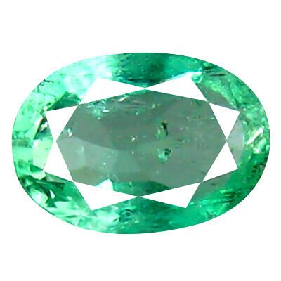 0.53 ct Superior Oval Cut (6 x 4 mm) Colombian Emerald Natural Gemstone