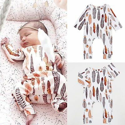 Infant Newborn Baby Boy Girl Cotton Bodysuit Romper Jumpsuit Kids Clothes Outfit