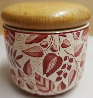Vintage Waechtersbach Pottery Liane Canister Small West Germany 9cm Tall