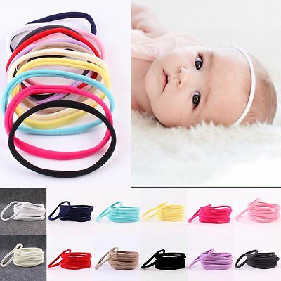 10PCS Kids Baby Girl Headband Toddler Elastic Hair Band Accessories Headwear Set