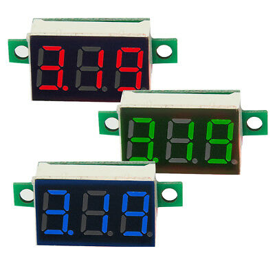Mini LED 3-Digital Display Volt Voltage Voltmeter Panel Accurate Meter DC 0-100V