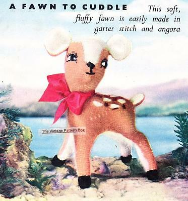 """VINTAGE FAWN 12"""" / 4ply - COPY toy knitting pattern"""