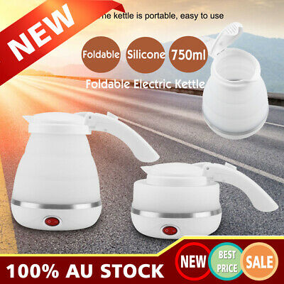 Silicone Foldable Portable Safe Electric Kettle Jug for Travel Caming 750ml AU
