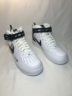 new concept dd5ba c0018 Nike Air Force 1 Mid Utility  07 LV8 Men Sz 11.5 WHTE BLACK-