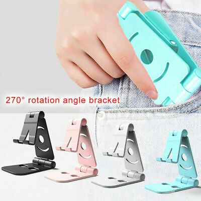 Foldable Swivel Phone Stand Desk Holder Cradle durable for office or home