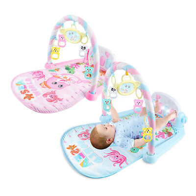 Newborn Play Mat Lay and Kids Gym Fitness 3in1 Fitness Music Lights Piano Toy PL