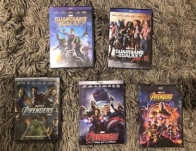 Marvel's Avengers Trilogy & Guardians of the Galaxy 1 & 2 DVD Free Shipping!