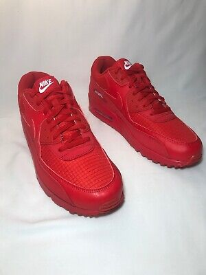 official photos 0adef 6bc87 NIKE AIR MAX 90 Essential Men's Size 13 UNIVERSITY RED/WHITE AJ1285 602