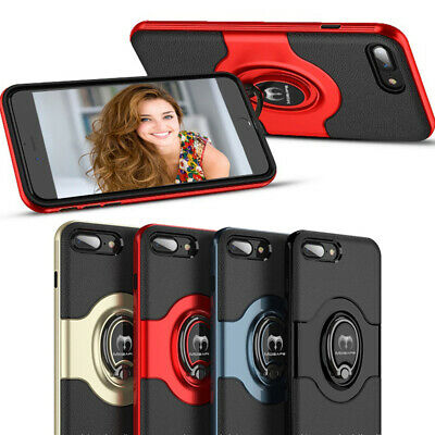 For iPhone 7/ 8 Plus Case Bumper Shockproof Hybrid Rugged Ring Protective Cover