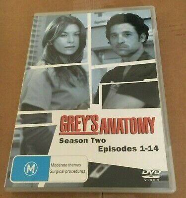 Grey's Anatomy Dvd. Season Two. 4 Discs. Episodes 1-14
