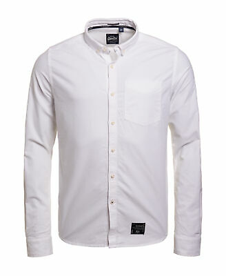 New Mens Superdry Ultimate Oxford Shirt Optic White