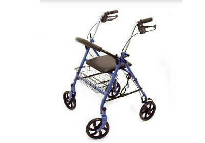Blue Jay Lightweight Folding Aluminimum 4 Wheel Rollator Walker Mobility Aid