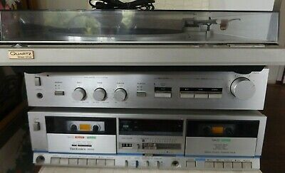 Old School 80's Stylish Technics Stereo System Record Player Amplifier Tape Deck
