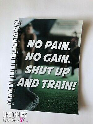 Weights Book / journal / workout fitness tracker / gym diary / training / NoPain