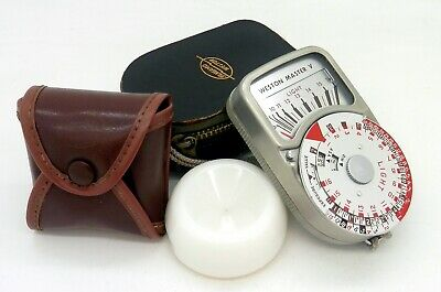Weston Master V Universal Exposure Meter with Leather Case & Invercone #3796