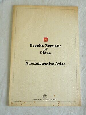 1975 Peoples Republic of China Administrative Atlas, Central Intelligence Agency