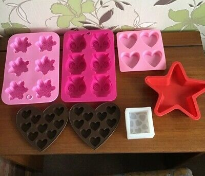 Job Lot New Soap Making Silicone Moulds Shampoo Bars