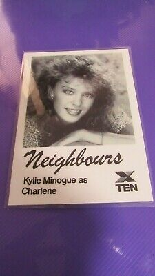 RARE Neighbours Kylie MInogue EX COND Laminated Fan Card, FREE Registered Post