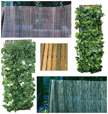 NEW Garden Screening Reed Bamboo Willow Expanding Trellis Leaf Flowers Outdoor